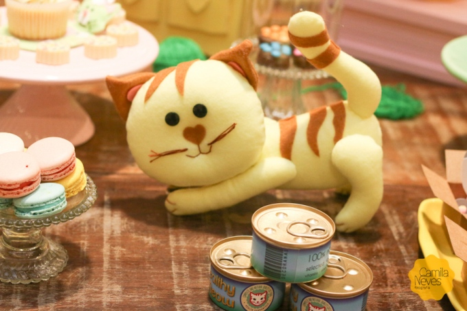 decoração festa infantil gatos