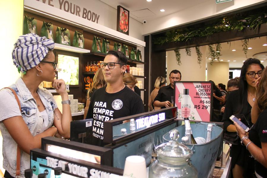 inauguração the body shop botafogo